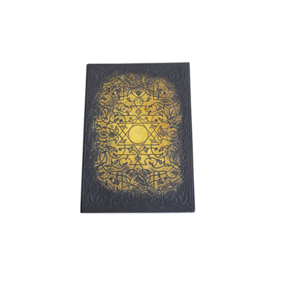 Carnet cuir noir et doré Sceau de Salomon Grand format