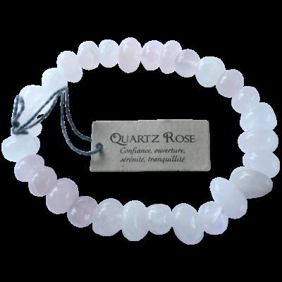 Bracelet Nuggets Quartz Rose