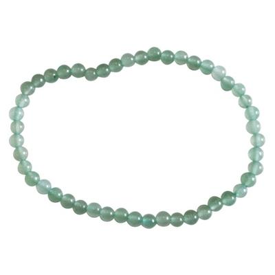 Bracelet Perles Rondes Aventurine Verte - 4 mm