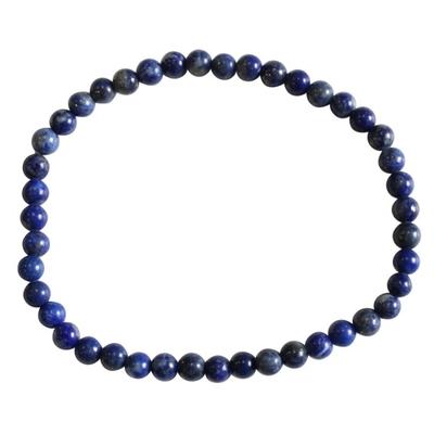 Bracelet Perles Rondes Lapis Lazuli - 4 mm