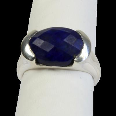Bague Argent Lapis Lazuli Facetté - Taille 57