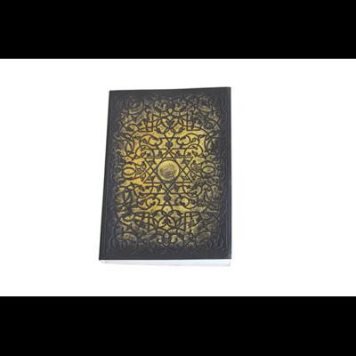Carnet cuir noir et doré Sceau de Salomon Petit format