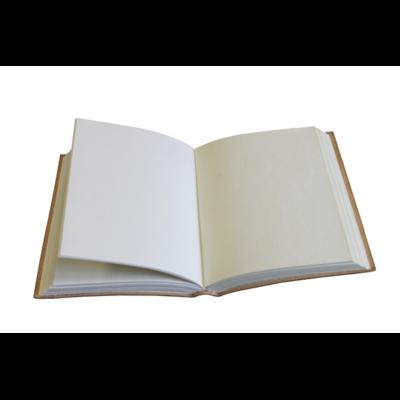 68122-2-Carnet cuir noir et doré Sceau de Salomon