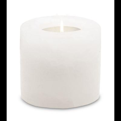 Photophore en Cristal de Sel Blanc Cylindre