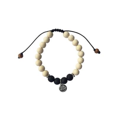 69908.1-Bracelet Pierre de Lave Bois de Tulsi
