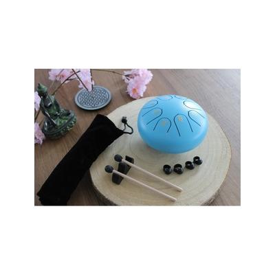 Mini Tongue Drum Bleu Diamètre 15 cm