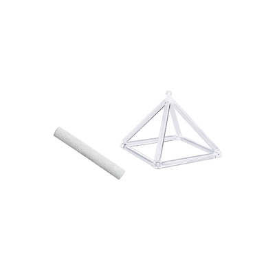 69882.1-Pyramide chantante en Cristal