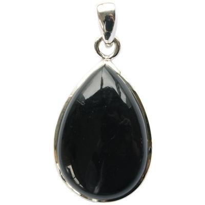 70057.1-Pendentif Obsidienne Noire