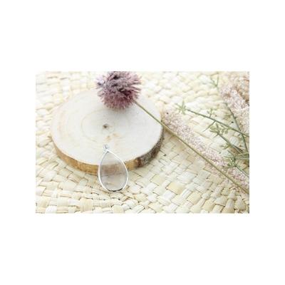 Pendentif Cristal de Roche Argent 925 Forme Goutte Grand Modèle