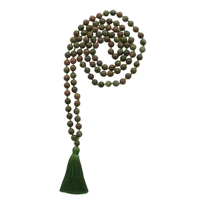 Mala en Unakite 108 perles