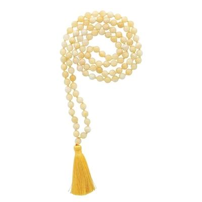 Mala en Jade Jaune 108 perles
