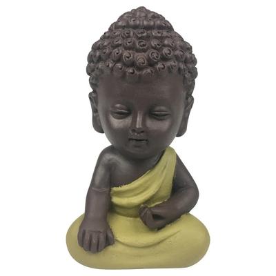 Statuette Mini Bouddha en Résine Vert 8.5 cm