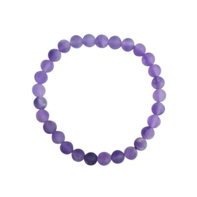 Bracelet Améthyste Perles rondes 6 mm