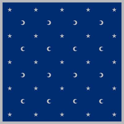 Tapis de Cartes Bleu Lunes et Etoiles