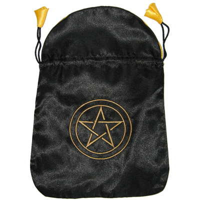 Bourse Satin Noir Pentacle