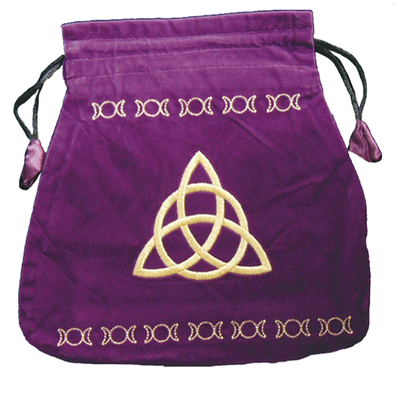 Bourse Velours Violette Charmed