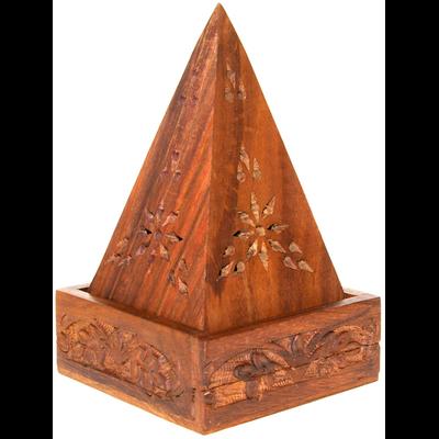 Porte encens Pyramide - Bois