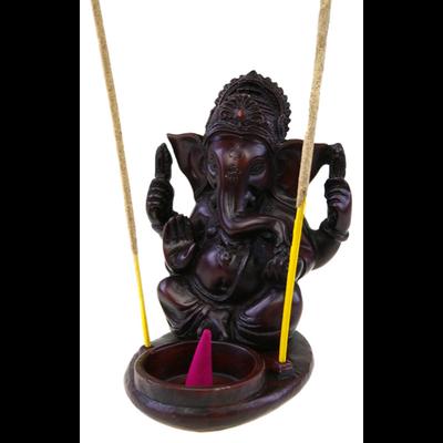 Porte encens Cône et Bâtons Ganesh en Résine