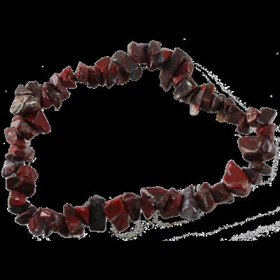 Bracelet Baroque Jaspe Rouge d'Afrique du Sud