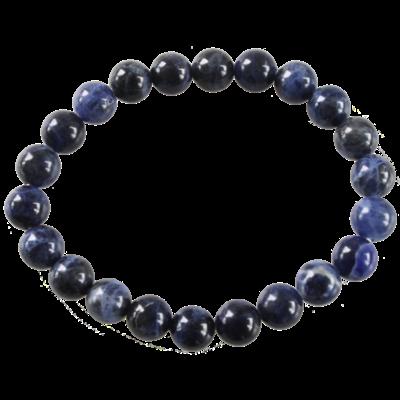Bracelet Perles Rondes Sodalite 8 mm