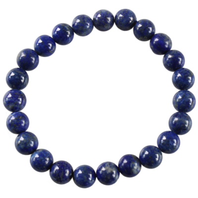 Bracelet Perles Rondes Lapis Lazuli 8 mm