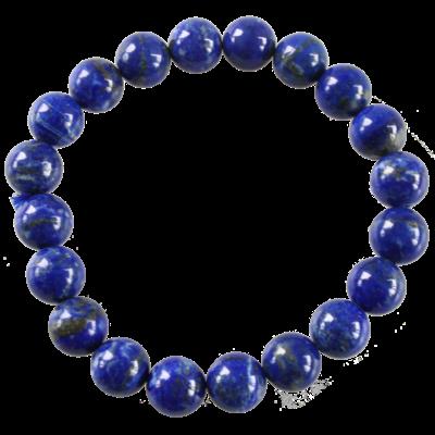 Bracelet Perles Rondes Lapis Lazuli 10 mm