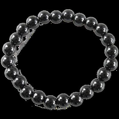Bracelet Perles Rondes Hématite 8 mm