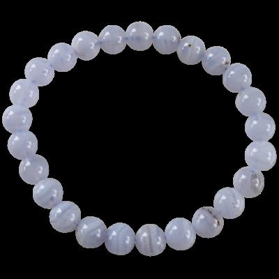 Bracelet Perles rondes Calcédoine 8 mm