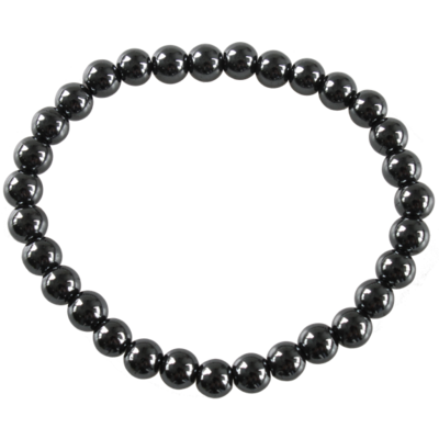 Bracelet Perles Rondes Hématite 6 mm