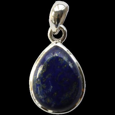 Pendentif Argent Goutte Lapis Lazuli