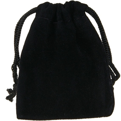 Sachet Suédine Noir 7 x 9 cm - Lot de 10