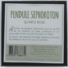 68687-2-Pendule Sephoroton en Quartz Rose