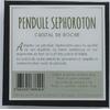 68690-2-Pendule Sephoroton en Cristal de Roche