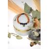 69921-Bracelet Pierre de Lave Bois de Santal Perles rondes
