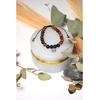 69909-Bracelet Pierre de Lave Bois de Rose