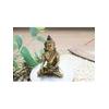 70422-statuette bouddha laiton doré