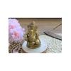 70443.Statuette Ganesh assis en Laiton doré mat 8.2 cm