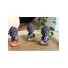 70438.2.Trio de Minis Bouddhas en Résine 8.5 cm