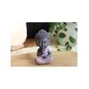 70437.2.Statuette Mini Bouddha en Résine Rose 8.5 cm