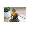 70426.1.Statuette Bouddha Abhaya Mudra en Laiton orange antique 20 cm