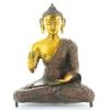 70426.Statuette Bouddha Abhaya Mudra en Laiton orange antique 20 cm