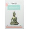 70453.1.Statuette Bouddha Bhumisparsha Mudra en Résine Dorée 26 cm