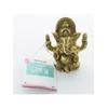 70447.1.Statuette Ganesh assis en Laiton doré mat 9.2 cm