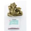 70445.1.Statuette Ganesh allongé en Laiton doré mat 8 cm