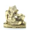 70445.Statuette Ganesh allongé en Laiton doré mat 8 cm