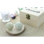 69466-Boules de Relaxation Chinoises en Jade Vert