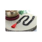 69002.1-Mala en Obsidienne Noire et Rudraksha 108 perles