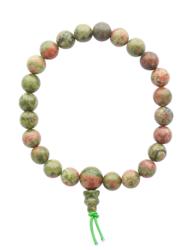 68986-1-Bracelet Mala en Unakite
