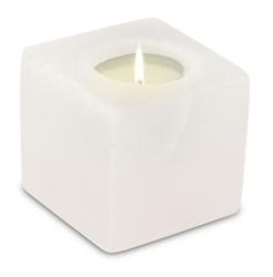 69847-1-Photophore en Cristal de Sel Blanc Cube