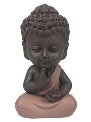 70437.1.Statuette Mini Bouddha en Résine Rose 8.5 cm